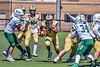 West Genesee Wildcats Exavier Brumfield (7) running with the ball against Fayetteville-Manlius Hornets in Section III Football action at Mike Messere Field in Camillus, New York on Saturday, April 3, 2021. West Genesee won in OT 38-32.