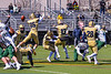 West Genesee Wildcats Colin McAvan (85) blocks the Extra Point against Fayetteville-Manlius Hornets in Section III Football action at Mike Messere Field in Camillus, New York on Saturday, April 3, 2021. West Genesee won in OT 38-32.