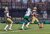 West Genesee Wildcats Exavier Brumfield (7) scores the winning in tochdown in Overtime against the Fayetteville-Manlius Hornets in Section III Football action at Mike Messere Field in Camillus, New York on Saturday, April 3, 2021. West Genesee won in OT 38-32.