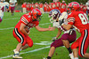 Baldwinsville Bees fullback Jim Lang (29) cuts down field against the Central Square Redhawks at Pelcher-Arcaro Statdium in Baldwinsville, New York on Friday, September 10, 2010. Baldwinsville posted a 63-13 victory.