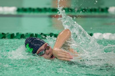 Meriden's Sam Barszcz swims the 200 freestyle Tuesday at Maloney High School pool in Meriden October 24, 2017 | Justin Weekes / For the Record-Journal