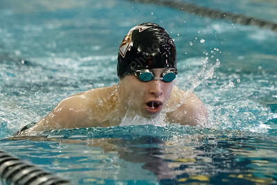 Sheehan's Adam DiDomenico finishes second in the 200 individual medley with a time of 2:16.88 Tuesday at the Platt High School Natatorium in Meriden February 6, 2018 | Justin Weekes / Special to the Record-Journal