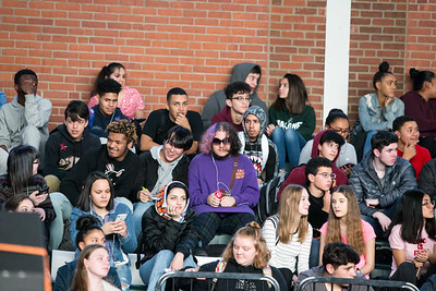 Friday during a pep rally for the Maloney football team at Maloney High School in Meriden December 7, 2018   Justin Weekes / Special to the Record-Journal