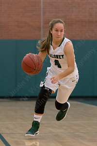 Maloney's Olivia Aitken drives up court Monday during the season opener at Maloney High School in Meriden December 11, 2017   Justin Weekes / For the Record-Journal