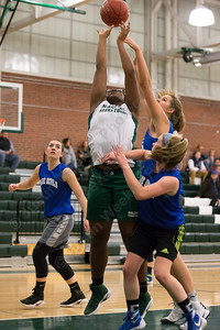 Maloney's Courtney Ubaike Friday at Maloney High School in Meriden December 8, 2017   Justin Weekes / For the Record-Journal