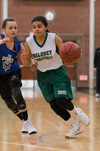 Maloney's Patricia Sanchez Friday at Maloney High School in Meriden December 8, 2017 | Justin Weekes / For the Record-Journal