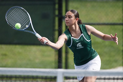 Maloney's Haley Lespier Monday at Maloney High School in Meriden May 7, 2018 | Justin Weekes / Special to the Record-Journal