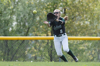 Maloney's Anna Hendrickson field a hit Thursday at Dunn Sports Complex in Meriden May 10, 2018 | Justin Weekes / Special to the Record-Journal
