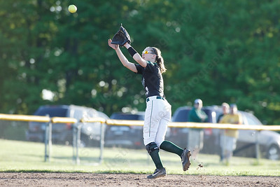 Maloney's Regan Maloney brings in a fly ball Monday at Dunn Sports Complex in Meriden  May 21, 2018 | Justin Weekes / Special to the Record-Journal