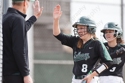 Maloney's Anna Hendrickson celebrates after scoring Thursday at Dunn Sports Complex in Meriden May 10, 2018 | Justin Weekes / Special to the Record-Journal
