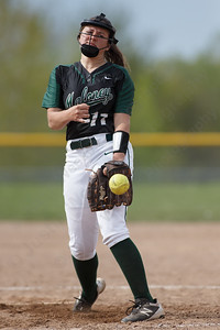 Maloney's Makenzie Meyer delivers a pitch Thursday at Dunn Sports Complex in Meriden May 10, 2018 | Justin Weekes / Special to the Record-Journal