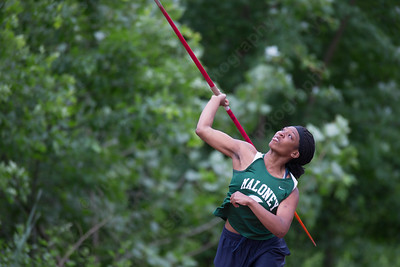 Maloney's Mychael Gallaher in javelin Monday during the CIAC State Open at Willow Brook Park in New Britain  May 31, 2016 | Justin Weekes / Special to the Record-Journal