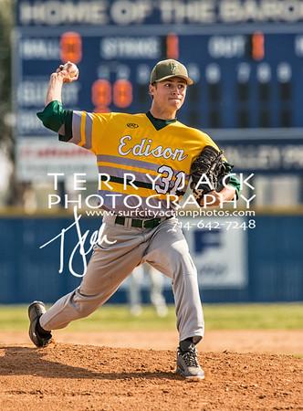 Edison @ Fountain Valley Baseball-11
