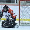 Glen Rock goaltender Matthew Luczyk (33) saves the net from a shot by Montclair.<br /> PHOTO: KELLY BIRDSEYE
