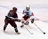 John Waldon (16) of Baldwinsville carries the puck into the Auburn Maroons zone at the Greater Baldwinsville Ice Arena on Tuesday, February 2, 2010. Baldwinsville posted a 4 to 1 win.