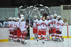 Devin Colclough being introduced at Senior Night for the Baldwinsville Varsity Ice Hockey team before the game against Ithaca on Friday, February 5, 2010.
