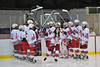 Christina Zandri being introduced at Senior Night for the Baldwinsville Varsity Ice Hockey team before the game against Ithaca on Friday, February 5, 2010.