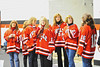 Baldwinsville Moms waiting to congratulation their sons at Senior Night for the Baldwinsville Varsity Ice Hockey team before the game against Ithaca on Friday, February 5, 2010.