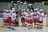 John Waldon (16) being introduced during Baldwinsville Bees Ice Hockey Senior Night on Friday, February 5, 2010.