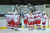 Brad Burlingame being introduced at Senior Night for the Baldwinsville Varsity Ice Hockey team before the game against Ithaca on Friday, February 5, 2010.