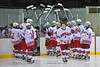 Wyatt Baumler being introduced at Senior Night for the Baldwinsville Varsity Ice Hockey team before the game against Ithaca on Friday, February 5, 2010.