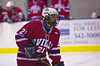 Baldwinsville Bees defensemen Griffen Noffey (21) in High School Boys Varsity Ice hockey action against Oswego on Thursday, February 11, 2010. Oswego won 2-0.