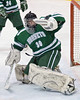 Fayetteville-Manlius goalie  Tyler Palmerton (30) makes a save during a game against  Baldwinsville in the Greater Baldwinsville Ice Arena on Tuesday, February 9, 2010.  Baldwinsville won 5-0.