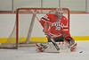 Baldwinsville Bees goalie Chris Johns (30) warms up before a game against the Corcoran Cougars at Mechem Rink in Syracuse, New York on Wednesday, December 22, 2010.