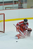 Fulton Red Raiders goaltender Kevin Niver (35) makes one of his 24 saves against the Baldwinsville Bees at the Greater Baldwinsville Ice Arena on Saturday, January 8, 2011. Fulton won 6 to 2.