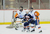 Players fight for position in front of Solvay Bearcats goalie Ryan Bonk (31) in Game 2 of the Kings of the Coliseum Hockey Tournament on Monday, December 27, 2010.  Solvay won 6 to 2.