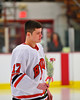 Baldwinsville Bees Mike McElwain (17)  on Senior Night before the game against the McQuaid Knights at the Greater Baldwinsville Ice Arena in Baldwinsville, New York.