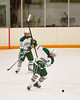 Fayetteville-Manlius Hornets forward Anthony angello (94) winds up for a slap shot against the Baldwinsville Bees in Section III Boys Ice Hockey at Cicero Twin Rinks in Cicero, New York on Friday, January 6, 2012. Fayetteville-Manlius  won 4-2.