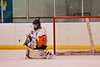 Solvay Bearcats Ryan Bonk (31) makes a save against the Baldwinsville Bees in the Allyn Ice Arena in Skaneateles, New York.
