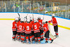 Baldwinsville Bees huddle up before a game against the West Genesee Wildcats in Section III Boys Ice Hockey at Shove Park in Camillus, New York on Wednesday, December 21, 2011.  West Genesse won 6-2.