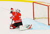 Baldwinsville Bees goalie Chris Johns (30) makes a save against the West Genesee Wildcats in Section III Boys Ice Hockey at Shove Park in Camillus, New York on Wednesday, December 21, 2011.  West Genesse won 6-2.