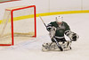 Hamilton Emerald Knights goaltender Brady Carroll (31) makes a save against the Baldwinsville Bees in Section III Boys Ice Hockey at the Greater Baldwinsville Ice Arena on Tuesday, January 3, 2012.  Baldwinsville won 4-2.