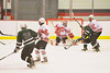 Baldwinsville Bees goalie Chris Johns (30) makes a save against the Hamilton Emerald Knights in Section III Boys Ice Hockey at the Greater Baldwinsville Ice Arena on Tuesday, January 3, 2012.  Baldwinsville won 4-2.
