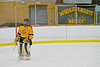 McQuaid Knights goaltender Brian Burns (30) taking a skate during a stoppage of play against the Baldwinsville Bees at the Greater Baldwinsville Ice Arena in Baldwinsville, New York. McQuaid won 4-3 in overtime.
