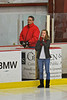 National anthem singer before the Baldwinsville Bees took on the McQuaid Knights at the Greater Baldwinsville Ice Arena in Baldwinsville, New York. McQuaid won 4-3 in overtime.