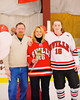 Baldwinsville Bees Morgan Baumler (16) at Senior Night before the game against the Watertown IHC Cavaliers at the Greater Baldwinsville Ice Arena in Baldwinsville, New York on Friday, January 18, 2013.