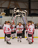 Baldwinsville Bees Matthew Colclough (5) being announced for Senior Night before the game against the Watertown IHC Cavaliers at the Greater Baldwinsville Ice Arena in Baldwinsville, New York on Friday, January 18, 2013.