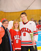 Baldwinsville Bees Tom Ancillotti (8) at Senior Night before the game against the Watertown IHC Cavaliers at the Greater Baldwinsville Ice Arena in Baldwinsville, New York on Friday, January 18, 2013.
