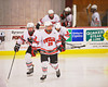 Baldwinsville Bees take the ice before playing the Fayetteville-Manlius Hornets at the Greater Baldwinsville Ice Arena in Baldwinsville, New York.  Baldwinsville won 4-2.