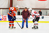 Dropping the ceremonial puck at center ice on Military Appreciation Night before the Baldwinsville Bees played the Liverpool Warriors at the Greater Baldwinsville Ice Arena in Baldwinsville, New York.  Bees won 6-1.