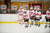 Baldwinsville Bees Senior captain Ronnie May (26) being introduced before playing the Watertown IHC Cavaliers at the Greater Baldwinsville Ice Arena in Baldwinsville, New York.  Baldwinsville won 6-0.