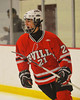 Baldwinsville Bees Adam Tretowicz (21) celebrates his goal against the Syracuse Cougars at the Meachem Ice Rink in Syracuse, New York on Thursday, February 13, 2014.  Syracuse won in triple overtime 2-1. © Scott Thomas Photography