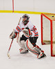 Baldwinsville Bees goaltender Matt Sabourin (30) in net at the Greater Baldwinsville Ice Arena in Baldwinsville, New York on Tuesday, December 10, 2013.  Teams skated to a 5-5 tie.