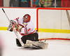 Baldwinsville Bees goalie Nick Harper (31) makes a save against the Liverpool Warriors at the Greater Baldwinsville Ice Arena in Baldwinsville, New York on Tuesday, January 21, 2014.  Liverpool won 3-1.