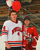 Baldwinsville Bees Jeremy Cook (4) with his teacher, Coach Jackson, on Teacher Appreciation Night at the Greater Baldwinsville Ice Arena in Baldwinsville, New York on Tuesday, January 12, 2014.