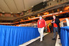 Baldwinsville Bees Head Coach Mark Lloyd and Baldwinsville Athletic Director Chris Campolieta walk out of the locker room at the Carrier Dome in Syracuse, New York on Friday, November 21, 2014. Cicero-North Syracuse won 3-2 in overtime.